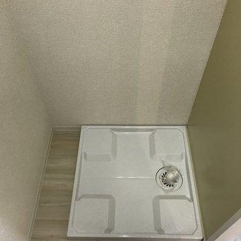 洗濯機置場もコンパクト