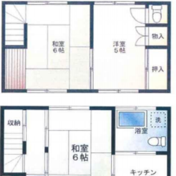 2つの和室+洋室