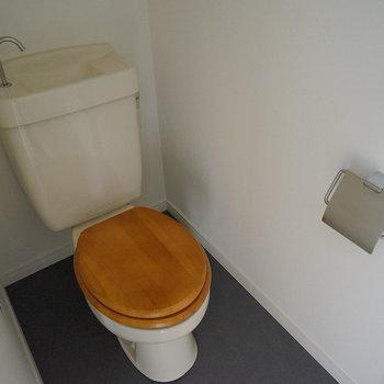 トイレは木製便座に!※写真は前回募集時のものです