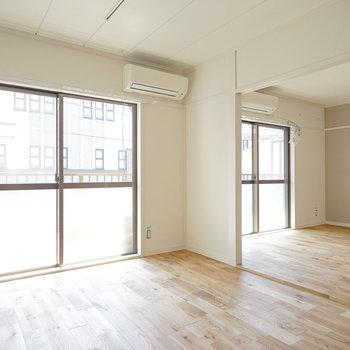 さらりと裸足が気持ちいい、無垢床に。※写真は前回募集時のものです
