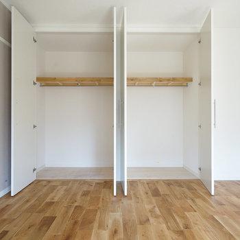 寝室の収納が大容量◎