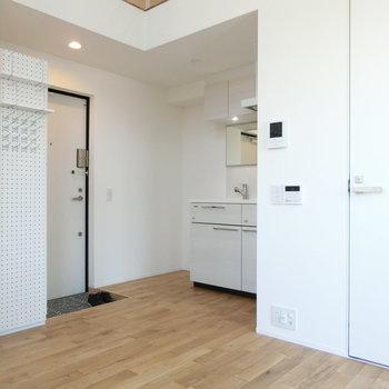 玄関とキッチンの配置