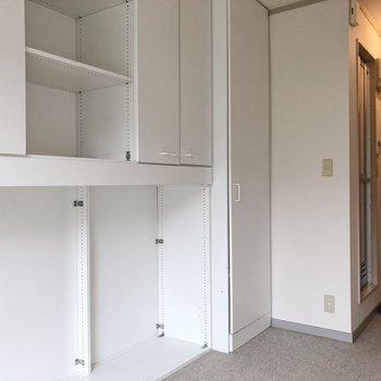 収納の存在感すごいですね。※写真は2階の同間取り別部屋のものです