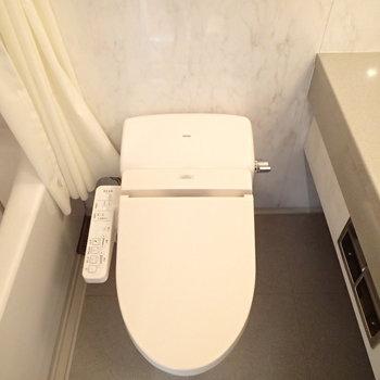 トイレはお風呂のすぐ横に。※前回募集時の写真です。