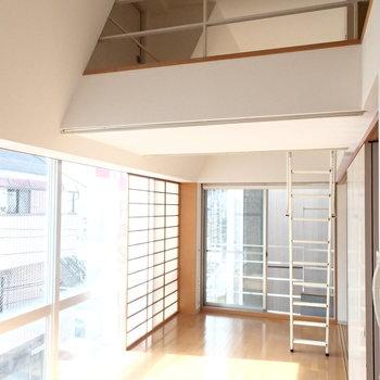 ロフト付きなので天井も高いです。※前回募集時の写真です。