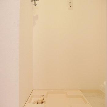 洗濯機も同じスペースにありますよ。