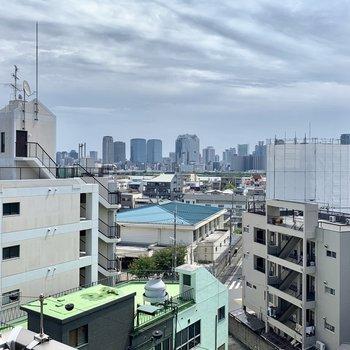 淀川に向いた眺望です、天気のいい日はもっと気持ちがいい!