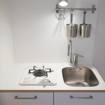 【イメージ】キッチンは1口ガスコンロでコンパクトに