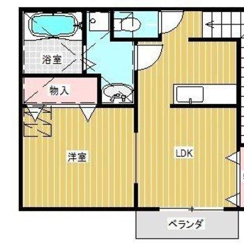 玄関は1階だけどお部屋は2階!