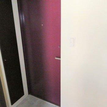 玄関スペースは小さめです。※写真は前回募集時のものです