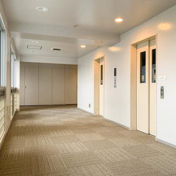 エレベーターが2機あります。