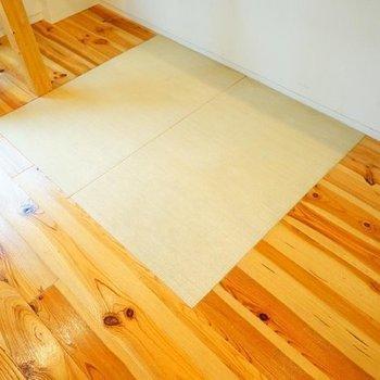 無垢に畳が!※写真は1階の反転間取り別部屋です