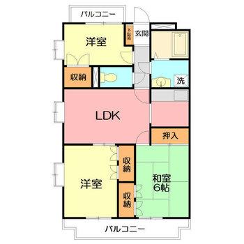 和室も含めた広々間取り。