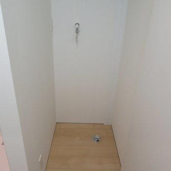 シャワールームの隣に洗濯機置場があります。※掲載写真は別部屋です。