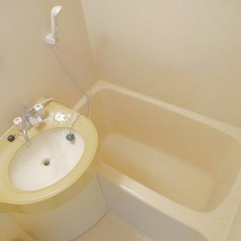 お風呂はこんな感じ。シャワーでパパっと済ませちゃいましょう。 ※写真は前回募集時・クリーニング前のものです