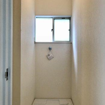 洗濯機置場は屋内です。
