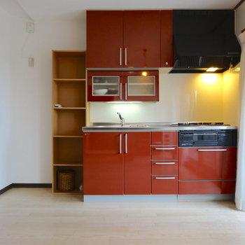 ワンルームなのでキッチンも開放感ありますね※家具等は全て撤去されます