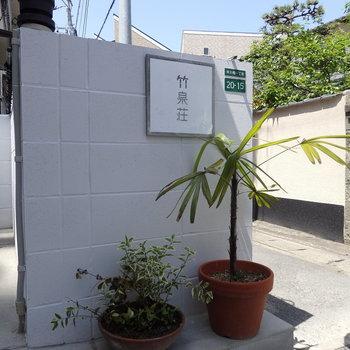 名前はあえて変えず「竹泉荘」。こちらのサインもデザインさせていただきました