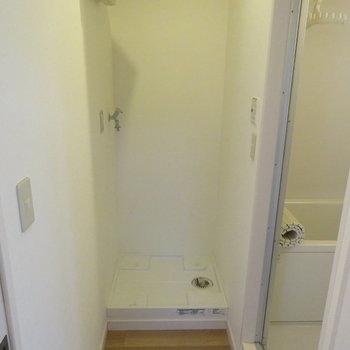 脱衣所部分に洗濯機置場が!※写真は前回募集時のものです