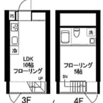 大きなリビングと寝室、空間を使い分け!