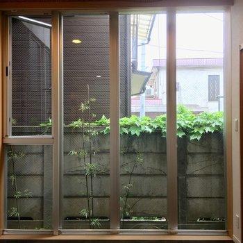 LDKの一面の窓も人目が全く気にならなくてうれしい〜