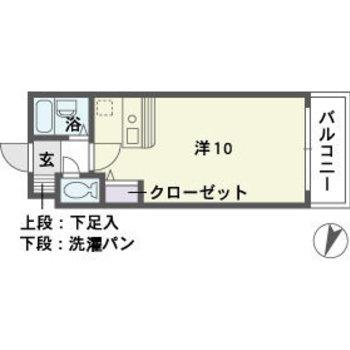 10帖ワンルームのお部屋です。