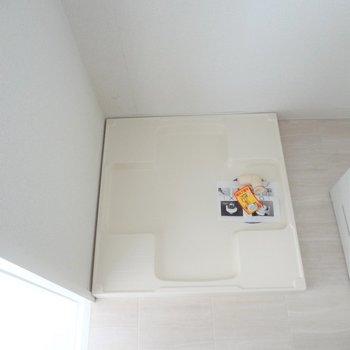 洗濯パンもきれい。※写真は2階の同間取り別部屋のものです
