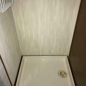 洗濯パンはロールカーテンで目隠しできますよ。