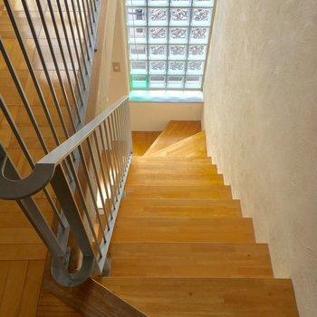階段を降りて下の階へ行っていましょう〜