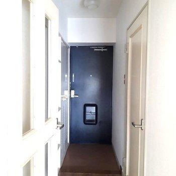 玄関のライト、ぽってりフォルムが良いね