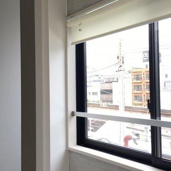 窓の前には扉が!花粉症の方、これはありがたいと思います! ※写真は別部屋