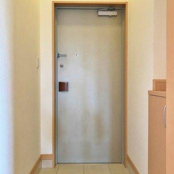 玄関はそこまで広くないかも。