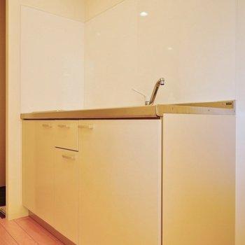キッチンはほんとシンプル。