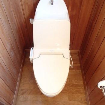 トイレは新品ではないものの、古すぎずキレイです。