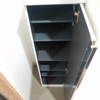 靴箱はスリムサイズ。※写真は2階の同間取りのものです