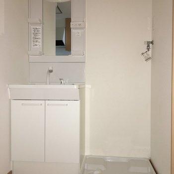 洗面台はドレッサータイプで使いやすそう!