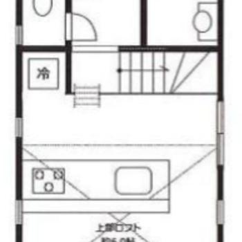 3層に分かれた1Rのお部屋です