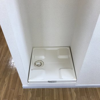 洗濯機はキッチンに