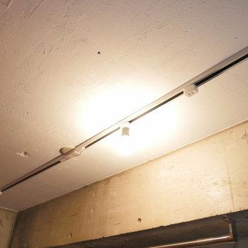 照明はライトレール。このお部屋らしいですね。