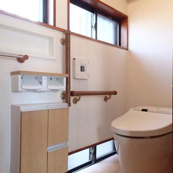 トイレは縁側の一番先。