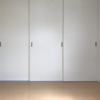 5.5帖の洋室です。程よい広さで落ち着きます。