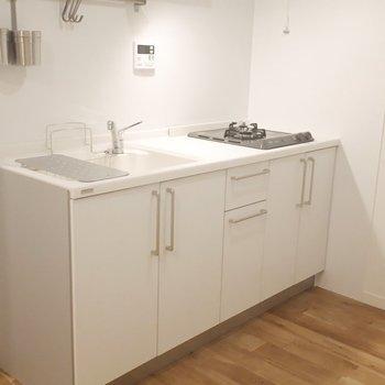キッチンスペースは単身にしては広いのです