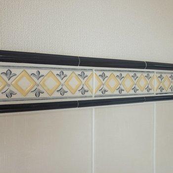 【LDK】壁には北欧デザインのタイルが。