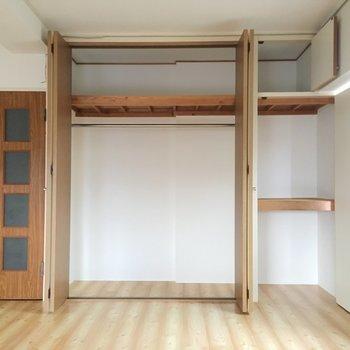 大きめ収納は天井まであります。