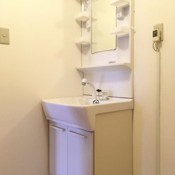 独立洗面台はシンクも大きい!