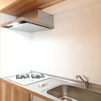 キッチンは収納のすぐ横に。