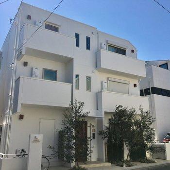 3階建ての小さくかわいいマンションです。