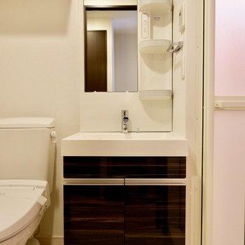 脱衣所に洗面台とトイレまとまってます。