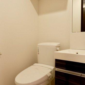 トイレ上に棚あります。