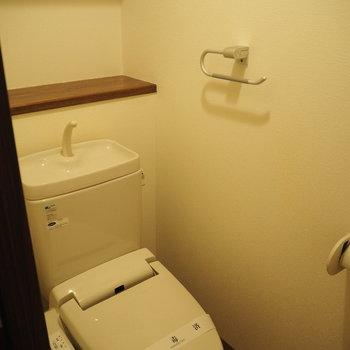 大きい方には狭めのトイレ※写真は前回募集時のものです